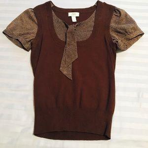 Sweater 'vest' blouse